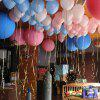Birthday Party Wedding Decoration Tie Balloon Laser Ribbon 6pcs - MULTI-A