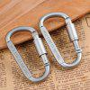 D Shaped Hanging High Quality Aluminum Alloy Carabiner - GRAY