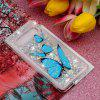 TPU Painted Pattern Quicksand Phone Case for Samsung Galaxy S10 Plus - BLUE ZIRCON