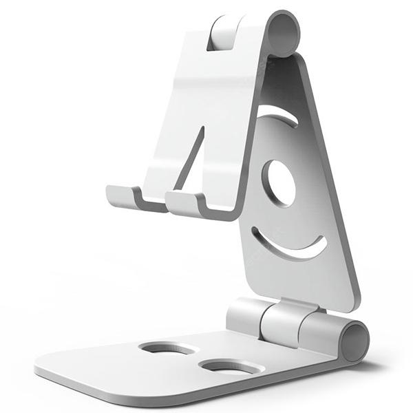 Desktop Stand Lazy Folding Mobile Phone Holder - Silver