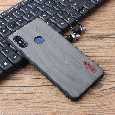 iBaiwei PU Wood Grain Shatter-resistant Phone Case for Xiaomi Redmi Note 5