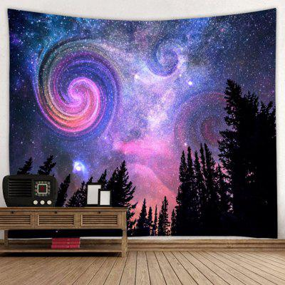 Shanghaojupin Night Sky with Trees Tapestry