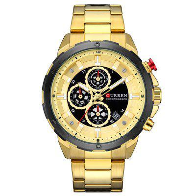 CURREN 8323 Men's Round Large Dial Quartz Watch
