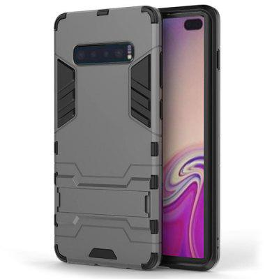 Three-in-one Scrub Shatter-resistant Phone Case for Samsung Galaxy S10 Plus