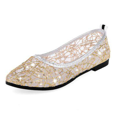 ZAFUL F8 Pointed Sequined Mesh Women Shoes for Spring
