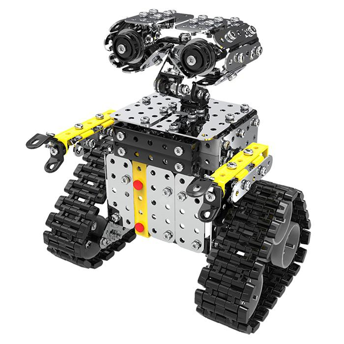 SW-048 DIY Stainless Steel Wall.E Robot Block Toy 466pcs - Silver