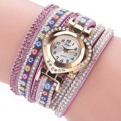 DUOYA Damen Love Diamond Armbanduhr