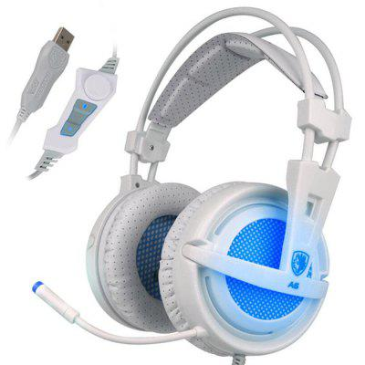 Sades A6 Gaming Headset 7.1 Channel E-sports Lighting Professional Headphones