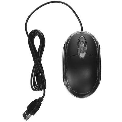 3-knops USB 800 Dpi Optical Wired Mouse