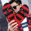 Men Fashion Rubber Sole Slippers - RED