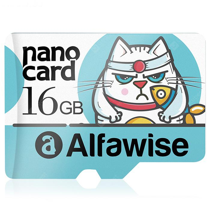 Alfawise A16U1 16GB High Speed High Capacity Micro SD / TF Card - Multi Greenish Blue 16GB