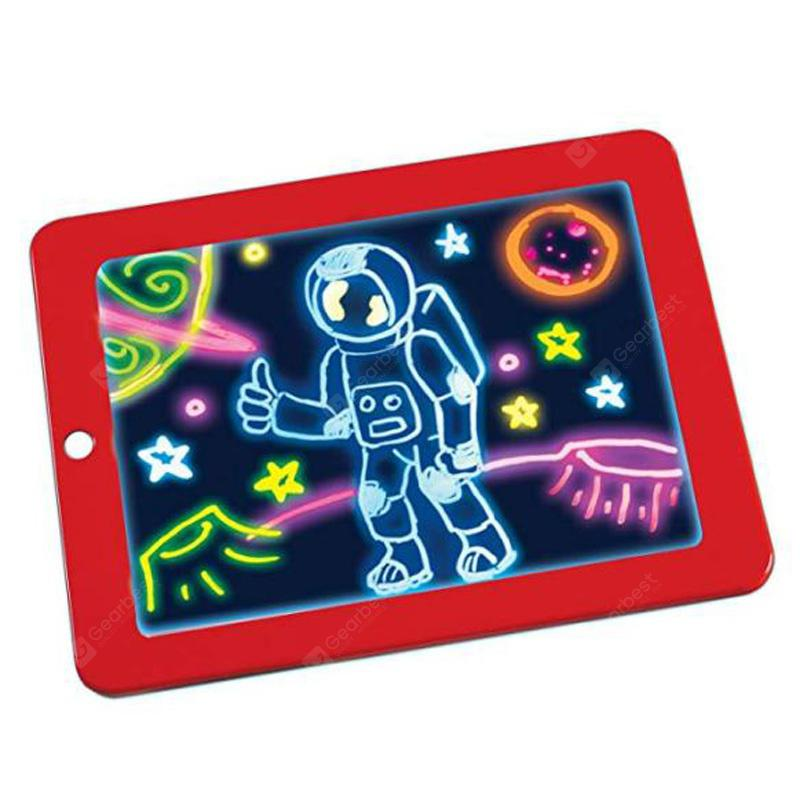 3D Children Educational Magic Drawing Board - Red
