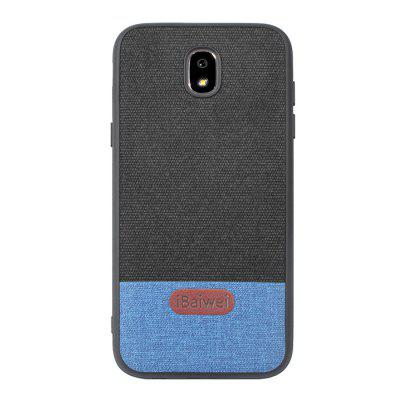 iBaiwei PU Fabric Stitching Patch Skóra Anti-Fall etui na telefon komórkowy do Samsung Galaxy J5