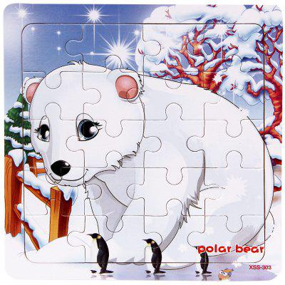 Wooden Forest Animal Jigsaw Puzzle