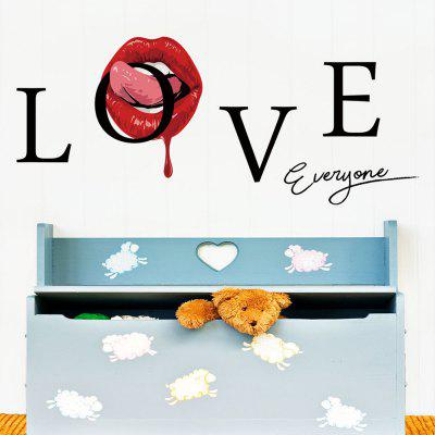 693 Creative Red Lips Environmental Protection PVC Wall Sticker