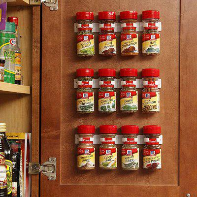 Wall Spice Bottles Gripper Storage Rack 4pcs