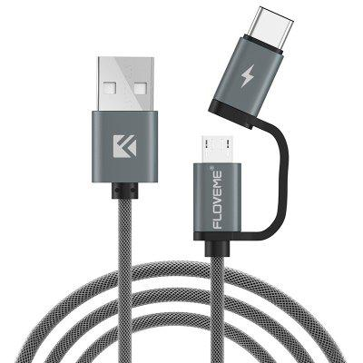 FLOVEME QC3.0 Fast Charge Micro USB and TYPE-C Data Cable