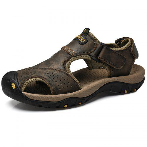e2c767a9879b Summer Leather Sandals Men Casual Outdoor Large Size Shoes