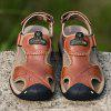 Summer Leather Sandals Men  Casual Outdoor Large Size Shoes - LIGHT BROWN