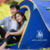 HUILINGYANG Outdoor Camping Tent Single Layer Quick Open Tabernacle - BLUEBERRY BLUE