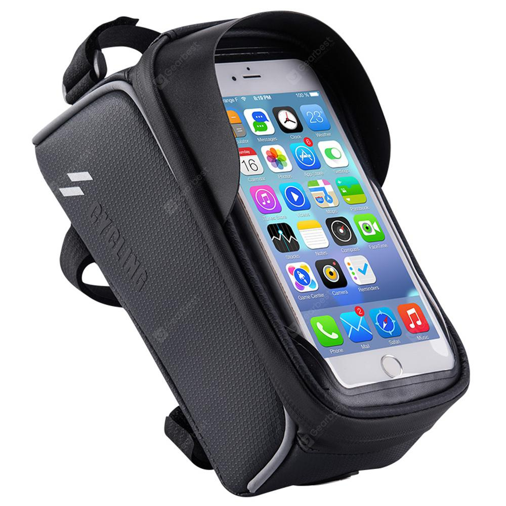 Gocomma / CYCLING Bicycle Frame Front Tube Beam Bag Screen Touch Holder