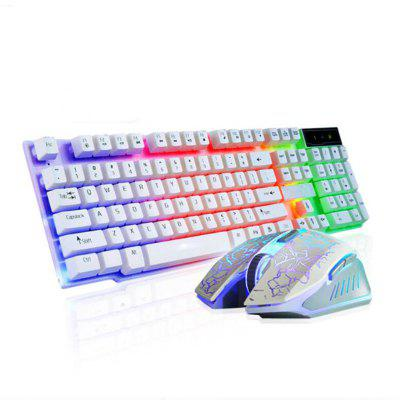 2 Pieces a Set Optical Gaming Keyboard Mouse and Pad Kit