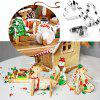 HT - 01 3D Christmas Tree Snowman Sling Elk in acciaio inox Cookie Mold 8PCS - ARGENTO