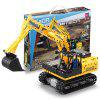 CaDA C51057W Electric Assembly Crawler Excavator Truck Toy - YELLOW