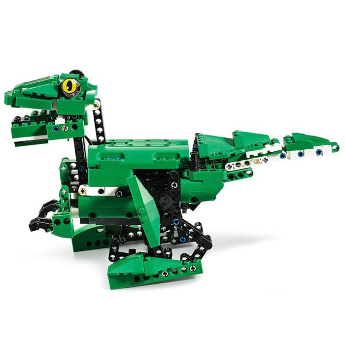 CaDA C51035W Electric Dinosaur Building Blocks Educational Toy - Clover Green