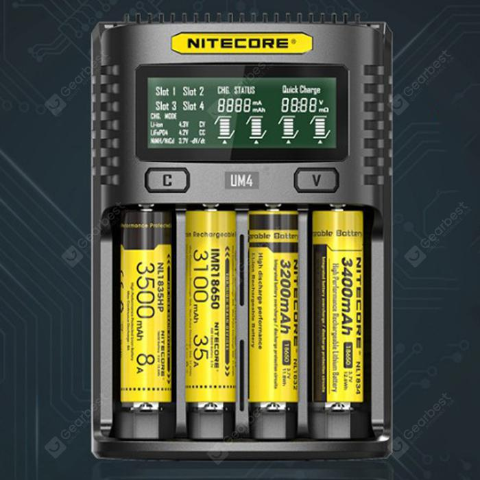 NITECORE UM4 Intelligent USB Batterie Charger Black