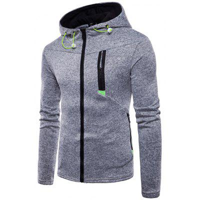 Men Sports Leisure Hooded Jacket Sweatshirt