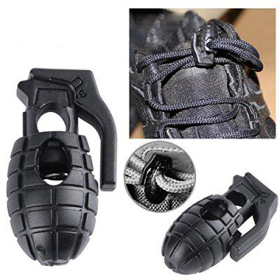 Grenade Shape Plastic Cord Lock Stopper Spring Toggles Stoppers for Paracord Drawstring