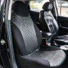 TIROL T25515BKF Car Single Front Seat Cover Black Quilted Rhombic PU Leather Seat Cover - BLACK
