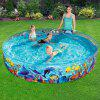 Family Swimming Round Hard Plastic Pool - BLUE