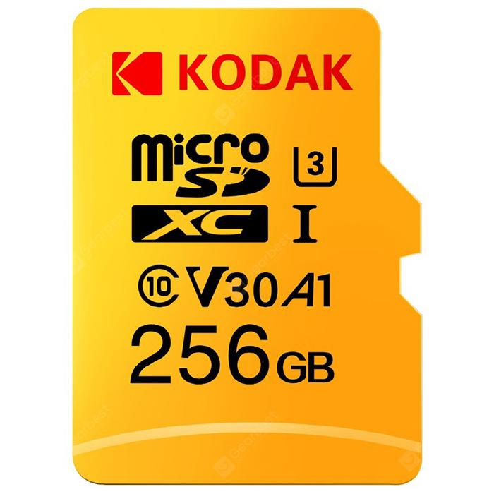 Kodak High Speed U3 A1 V30 Micro SD Card TF Card - Yellow 256G