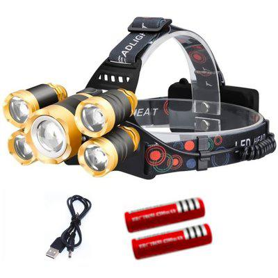 Zoomable Rechargeable LED T6 Headlamp