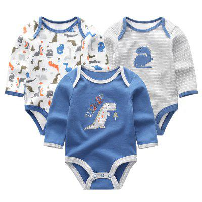 KIDDIEZOOM Baby Cute Fashion Tuta manica lunga 3 pezzi