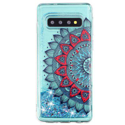 TPU Painted Quicksand Phone Case pour Samsung Galaxy S10