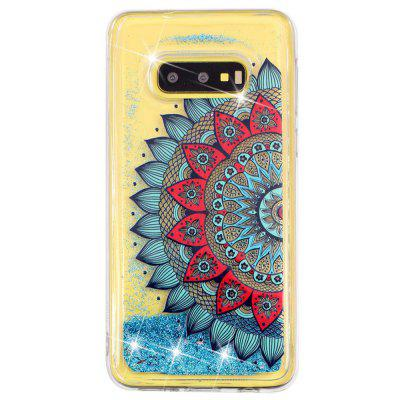 TPU Painted Pattern Quicksand Phone Case pour Samsung Galaxy S10E