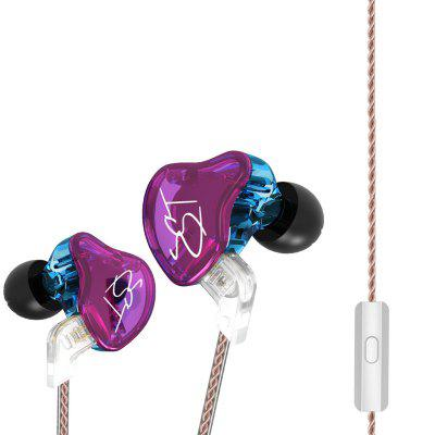 KZ ZST Wired On-cord Control Noise-canceling In-ear Earphones NO MIC