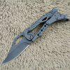 SR Mini All Steel Mechanical Lock Folding Knife - BLACK
