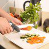 Multi-function Kitchen Fruits Vegetable Scissors Cutting Board Food Cutter Knife - BLACK