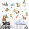 Cartoon Animal Wall Sticker 2pcs - MULTI-A