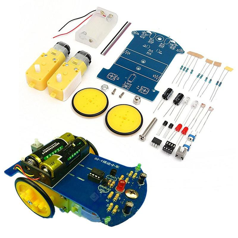 LEBANGSHOU DIY Tracking Robot Car Geared Motor Kit