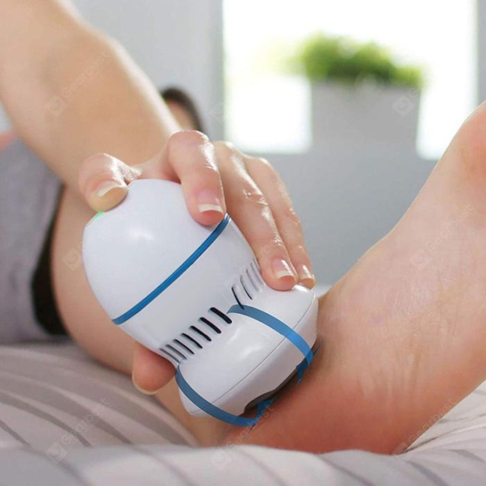 Rechargeable Electronic Foot File Callus Hard Skin Remover Foot Grinding Machine - White