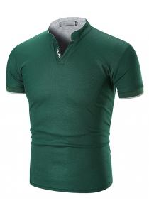 5d45390f80dd 69% OFF 1503A - T22 Male Stand Collar Short-sleeved Large Size T-shirt