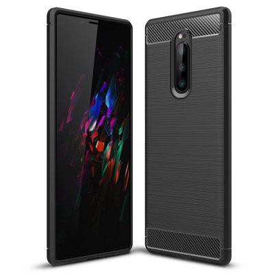 Naxtop Carbon Fiber Brushed Phone Case for Sony Xperia 1 / XZ4