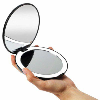 Natural Daylight LED Compact Portable Folding Mirror