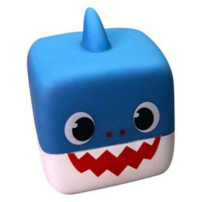 Silicone Music Glowing Doll Shark Toy para o bebê