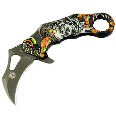 Outdoor Multifunction Knife Camouflage Wing Claw Blade